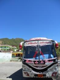 The bus that took us from Ecuador (Vilcabamba) to Peru (Piura).