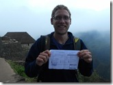 Wayna Picchu Ticket!!! 28 06 2011