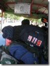 Cambodia - Phnom Pehn - Rucksacks squashed on a tuk tuk