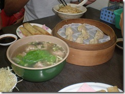Taiwan - Tainan- shrimp soup dumplings, spring rolls & wonton soup