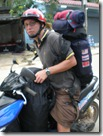 Thailand - Koh Chang - rucksacks on a scooter