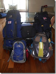 Nic & Tom's Rucksacks leaving Taiwan