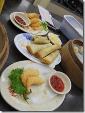 Taiwan - Tainan- shrimp tempura & spring rolls