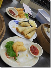 Taiwan - Tainan- shrimp tempura & spring rolls