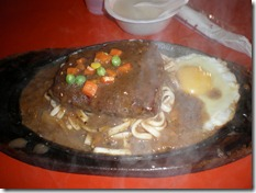 Taiwan - Tainan - night market - steak, egg & noodles