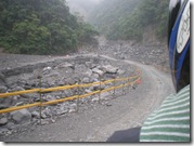 Taiwan - Southern Cross Highway - Last trip, damaged road after Typhoon Morakot -April 2010