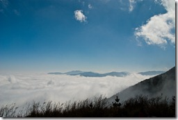 Taiwan - Southern Cross Highway - Sea of Clouds after Yakou Tunnel - Jan 2009