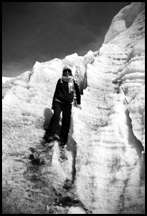 Peru standing on the Pastouri Glacier 01-06-2011