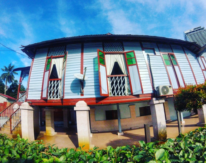 Kuala Lumpur - a traditional Malay house in Kampuing Baru