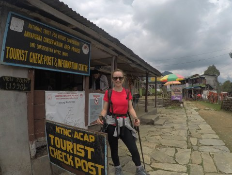 Day 11 - at the final checkpoint of the trek