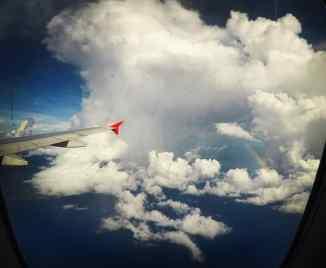 Kuala Lumpur to Cebu - Look for the rainbow!