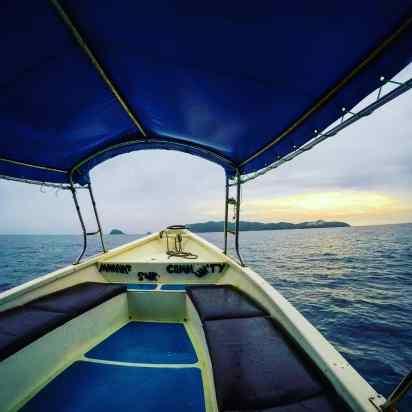 Marang jetty boat - Pulau Kapas - Malaysia