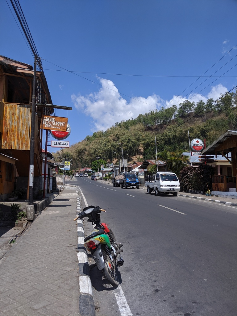 A main street in Bajawa