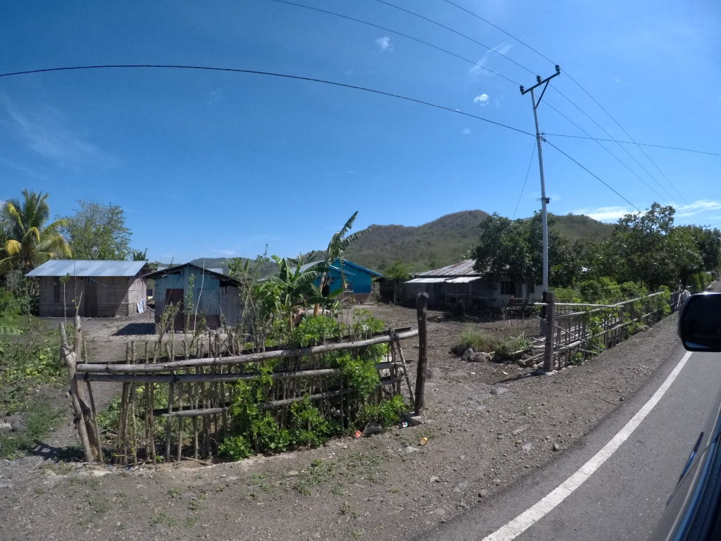 Houses along the Trans Flores Highway
