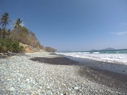 Blue Stone Beach just before Ende in Flores.