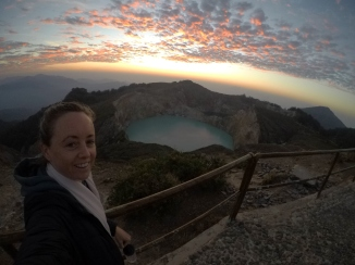myself in front of one of the crater lakes
