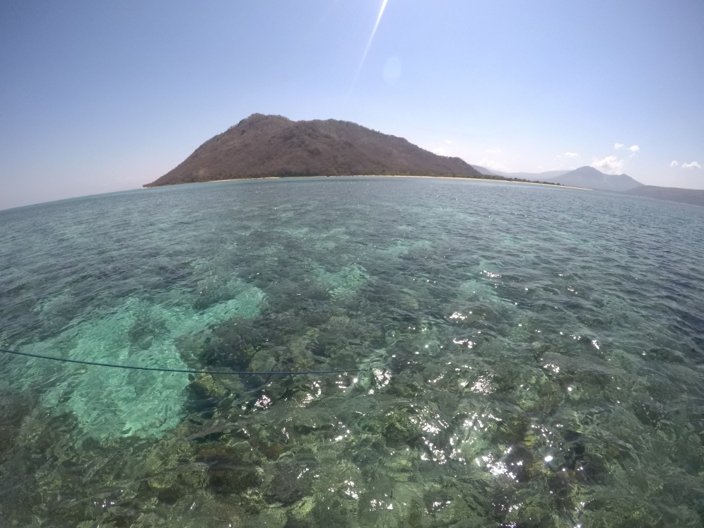 Stunning sea around Babi Island.