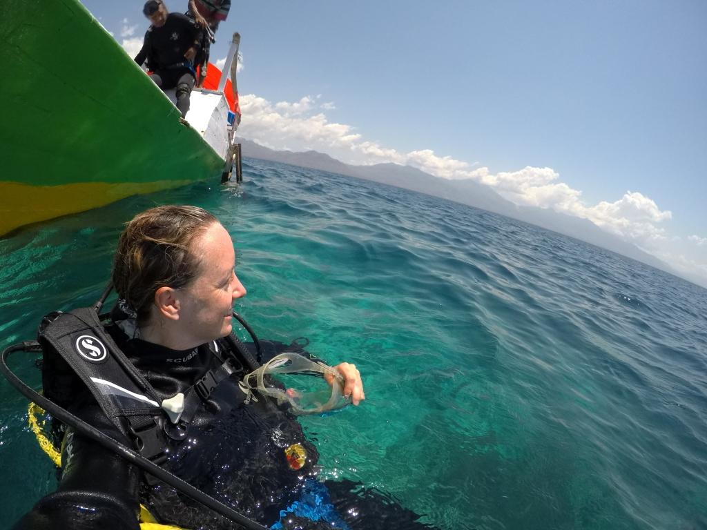 scuba diving in the sea