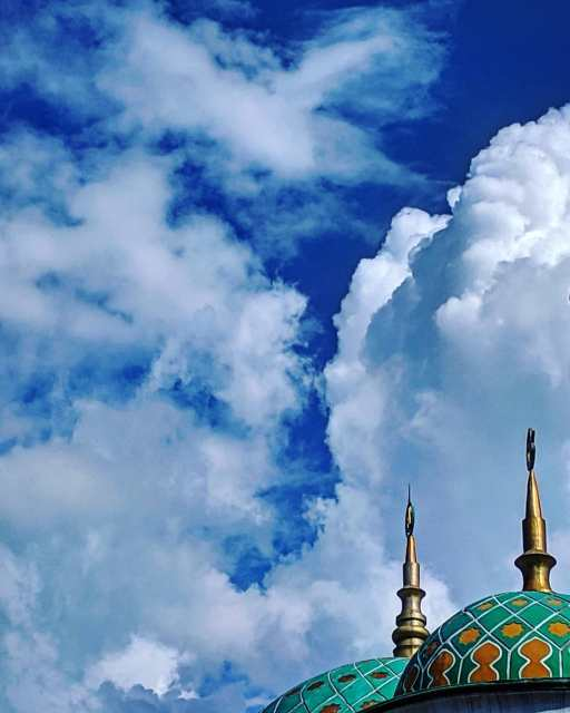 A beautiful mosque roof in Labuan Bajo.