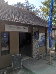 the Blue Corner Dive shop entrance