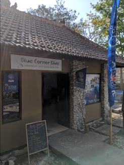 the Blue Corner Dive shop entrance